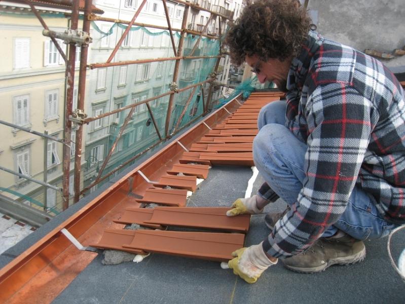 Residenze trieste for Montaggio tetto in legno ventilato